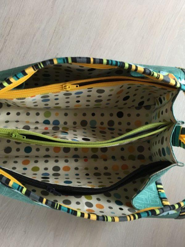 Sew Together Bag, indeni. Stoffer fra Zen Chic