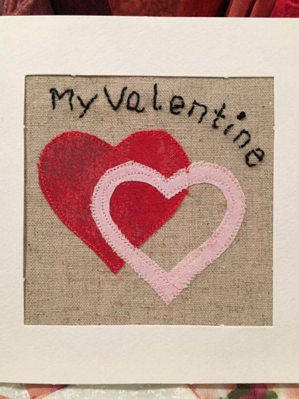 My valentine. Applikation, stitchery.
