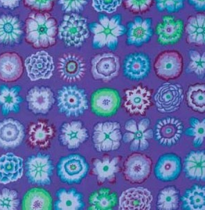 Kaffe Fassett. Button Flowers. Purple.PWWGP 152.PURPL
