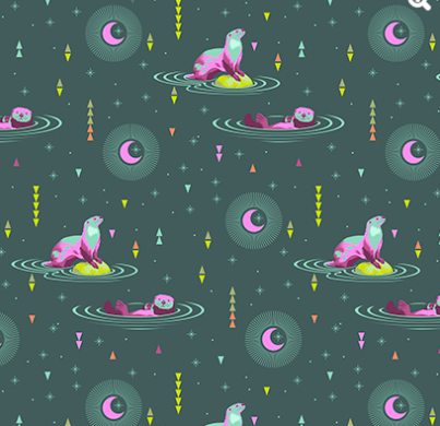 Tula Pink - Spirit Animal - Otter and Chill - Lunar Item # PWTP102.LUNAR