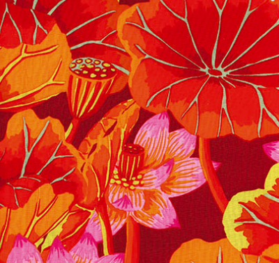 Kaffe Fassett - Classics - Lake Blossoms - Red Item # GP93.REDD