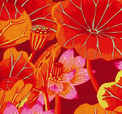 Kaffe Fassett - Classics - Lake Blossoms - Red Item # GP93.REDD