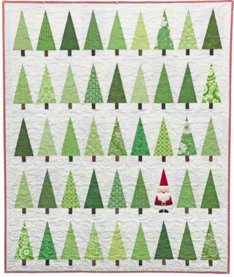 """Santa in the Trees"", mønster."