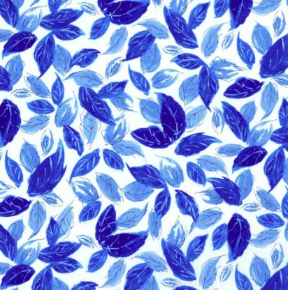 3278-001 LEAFY BLUES-DELFT