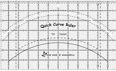 Quick Curve Ruler, lineal fra Sew Sweetness.