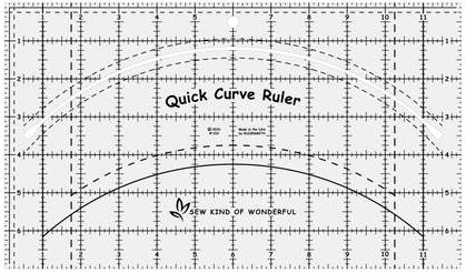 Quick Curve Ruler, lineal fra Sew Kind of Wonderful..