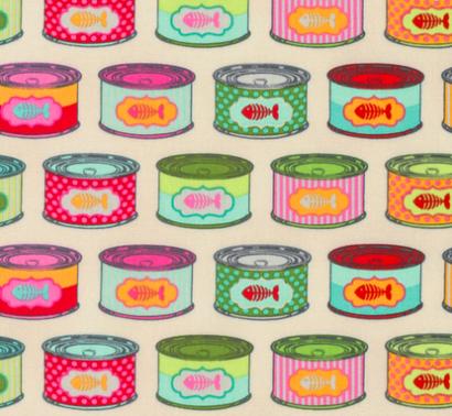 Tula Pink - Tabby Road - Cat Snacks - Strawberry Fields Item # PWTP094.STRAW