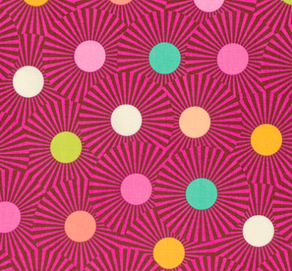 Tula Pink - Slow & Steady - Clear Skies - Orange Crush Item # PWTP088.ORANG