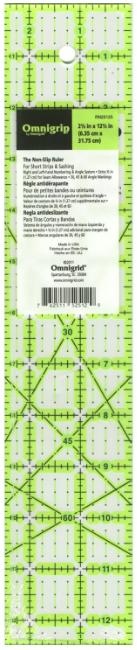Omnigrid Omnigrip Neon Ruler 2-1/2in x 12-1/2in # RN25125