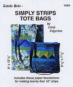 Simply Strips Tote Bags, Cindi Edgerton.