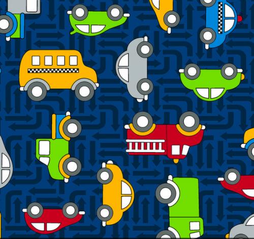 3403-002 CARS-DARK BLUE,RJR Fabrics