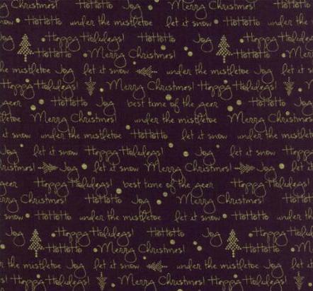 White Christmas Black 1652 23M Moda Metallic, Zen Chic