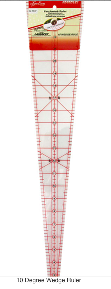 Sew Easy 10º wedge ruler.
