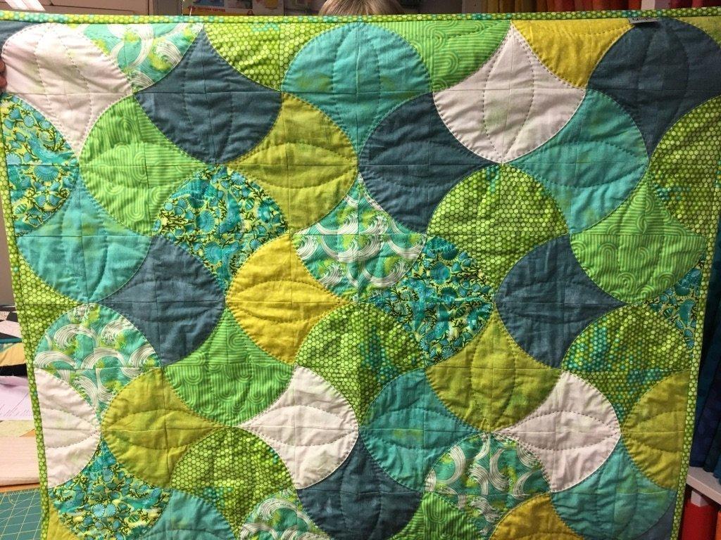 Babytæppe i grønt