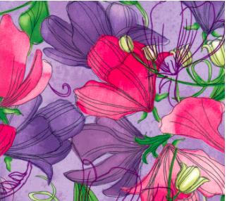 Sweet Pea Lily Lavender 48640 14 Moda, Robin Pickens