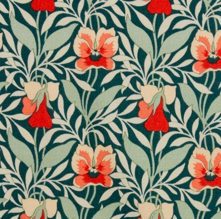 LIBERTY FABRICS Harriet's Pansy Lasenby Cotton